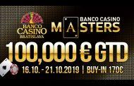 100.000€ w gwarantowanej puli nagród Banco Casino Masters!