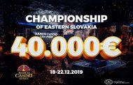 Championship of Eastern Slovakia już w grudniu w Koszycach!