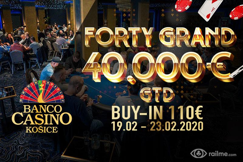 Forty Grand 40.000€ i inne atrakcje w Banco Casino w Koszycach!