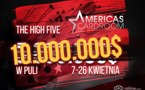 Festiwal High Five na ACR - 10.000.000$ w puli kwietniowego wydarzenia