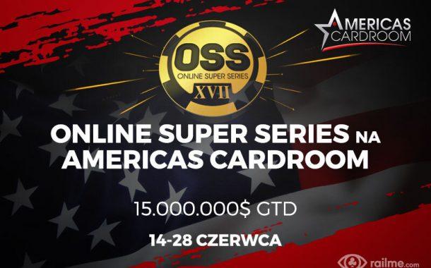 15.000.000$ gwarantowane w  Online Super Series na Americas Cardroom