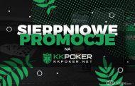 Sierpniowe promocje na KKPoker - 100% first depo bonus, VIP za darmo i inne