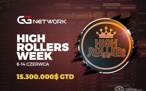 27 turniejów w harmonogramie High Rollers Week na GGNetwork