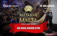 25.000.000$ w gwarantowanej puli nagród Battle of Malta Online 2021 na GGNetwork