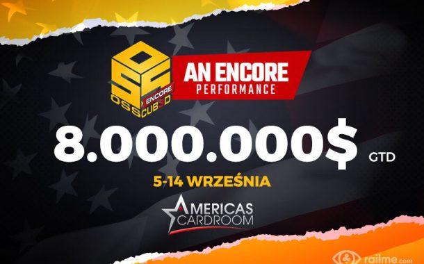 Amercias Cardroom – 8.000.000$ gwarantowane w OSS Cub3d Encore